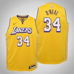 Women Lakers #34 Shaquille O'Neal City Jersey